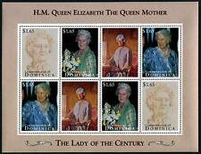 DOMINICA Sc.# 1794 Queen Mother 95th Birthday Stamps Sheetlet