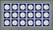 LAOS Sc.# 1787 Postmarks Stamp Sheet of 18 Diff.