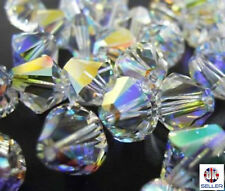 Swarovski 5328 Elements CRYSTAL AB Beads Bicones 2.5mm,3mm,4mm,5mm,6mm,8mm,10mm