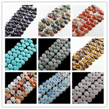 JK41 Wholesale 18x13x6mm Mixed Gemstone Teardrop Loose Bead 8 inch