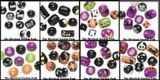 Halloween Hand Painted Glass Beads *Ghost Spider Pumpkin Witch Bat BOO Cat Eye 2