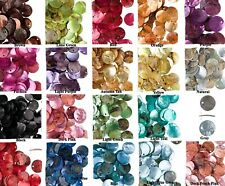 100 Mussel Shell Coin Drop Charms  ~ 10mm ~ Many Colors Available