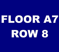 Coldplay tickets San Diego Qualcomm Stadium Cold Play 10/8 **FLOOR A7, ROW 8!**