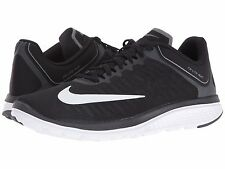 NIKE FS LITE RUN 4 BLACK WHITE GREY MENS RUNNING SHOES **FREE POST WORLDWIDE