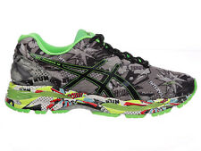NEW MENS ASICS GEL-NIMBUS 18 RUNNING SHOES TRAINERS CARBON / BLACK / GREEN GECKO