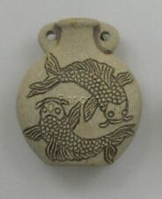 Ceramic Pottery Bottle/Necklace, High Fired Koi Fish, Choice of Lot Size & Price