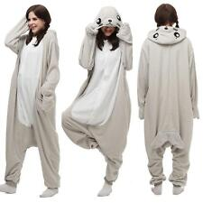 Unisex Adult Pajamas Kigurumi Cosplay Costume Seal Animal Onesie Sleepwear Hot 0
