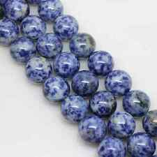 Hot Cute Natural Blue Round Gemstone Loose Spacer Beads Stone Finding 4-12mm