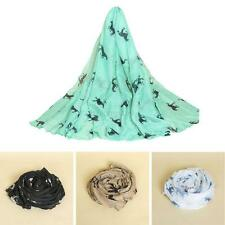 Women Horse Print Fashion Sheer Long Scarf Shawl Warm Wrap Stole Voile Scarves