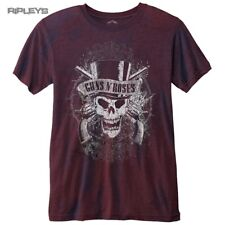 Official T Shirt GUNS N ROSES Vintage Distressed SKULL Red Burnout All Sizes
