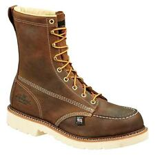 """Thorogood 8"""" American Heritage Moc Toe Safety Toe 804-4378 Mens Brown Work Boots"""