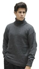 Men's Soft Warm Alpaca Wool Knitted Knit Turtleneck Sweater Peru Solid Color