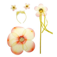 Kids Children Costume Cosplay Flower Fairy Wings Wand Photograph Prop Accessory
