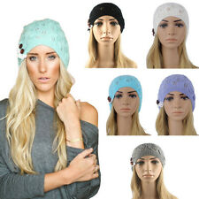 New Winter Women Girl Lady Acrylic Earflap Ear Flap Knit Beanie Hat Ski Cap Warm