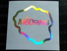 M60 Ring Silver Hologram Neo Mirror Chrome Funny Stickers Decals JDM DUB VW EURO