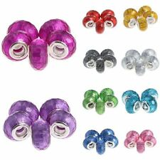 10pcs Lampwork Fit Bracelet DIY Faceted 14*9mm European Acrylic/Plastic