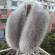 New Women Soft Long Faux Fur Scarf Fluffy Collar Winter Warm Wrap Stole Shawl