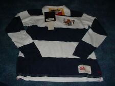 NEW BOYS KIDS CANTERBURY OF NEW ZEALAND POLO SHIRT BLUE WHITE STRIPED SIZE 2