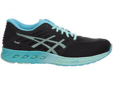 NEW WOMENS ASICS GEL FUZEX RUNNING SHOES TRAINERS BLACK / MINT / AQUARIUM