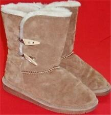 USED Women's BEARPAW ABIGAIL 682W Brown Suede Leather Shearling Winter Boots