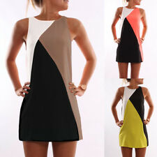 Plus Size 6-22 Womens Summer Casual Sleeveless Evening Party Mini Dresses Boho