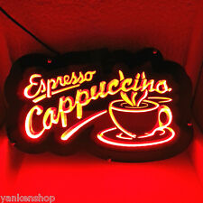 """LD122 Espresso Cappuccino Cup Cafe Coffee Shop Display LED Light Sign 12""""x7.5"""""""