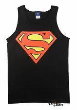 Superman Classic Logo DC Comics Officially Licensed Adult Black Tank Top S-3XL