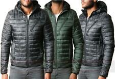 Mens Threadbare Padded Quilted Hooded Jacket Coat Camouflage Warm Winter DMV025