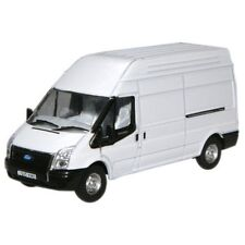 1:76 White Oxford Diecast Transit Lwb High - Model Ford Van Collectable Gift