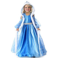Girls Snow Queen Gown and Cape Halloween Costume - Child Size