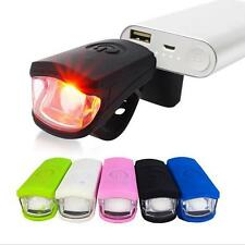 LED MTB Cool Bike Light Silica gel Waterproof Bicycle Front Light USB Charging