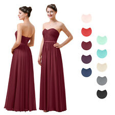 A-Line Chiffon Bridesmaid Dress Long Women Party Prom Dress Evening Gown NEW