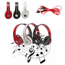 Foldable Headphone Headset Earphone Mic 3.5mm for iPod MP3/4 Cellphone Music LOT