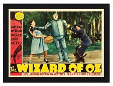 Framed The Wizard Of Oz Movie Poster A4 Size Mounted In Black Or White Frame R-4