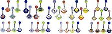 Belly Button Ring Navel Piercing Spinner UV Ball 14g 316L Surgical Steel Barbell