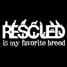 RESCUED IS MY FAVORITE BREED (rescue animal kitty alf vitamins cat dog) T-SHIRT