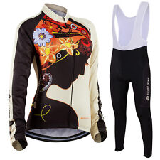 Womens Team Cycling Jersey Bib Pants Set Bike Riding Outfits Shirt Pants Suits