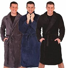 NEW MENS BOYS COLLARED SUPER SOFT & COSY FLEECE DRESSING GOWN ROBE SIZES S-XL