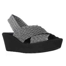 STEVEN by Steve Madden Batina Woven Wedge Slingback Sandals - Pewter