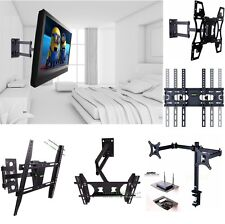 Universal TV Wall Mount Stand Holder 22-70Inch,1/2 Tier Under TV DVD Stand Shelf