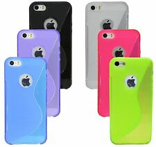 Cover Mobile Phone Shell Pouch Case Silicone for Iphone SE + Screen protector