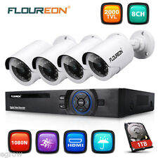 2000TVL INCOSKY 8CH DVR HDMI 960P Video Outdoor CCTV Camera Security System 1TB