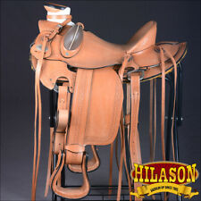 HILASON BIG KING SERIES WESTERN WADE RANCH ROPING COWBOY HORSE SADDLE 15 16 17