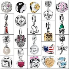 Hot Luxury 925 Sterling Silver Charms Diy For Brand European Bead Bracelet Chain