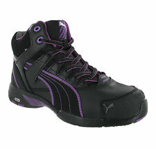 Puma Stepper Mid S3 Safety Steel Toe Cap Womens Leather Work Boots Shoes UK3-8