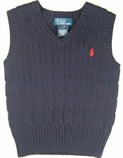 POLO RALPH LAUREN Boys 18 Months Sweater Vest Infant Baby NEW
