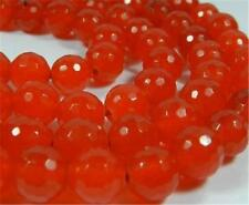 "8mm Faceted Rare Orange South America Topaz Round Gems Loose Beads 15""AA##QF2787"