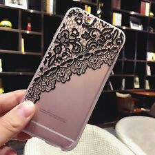 Retro Rubber Silicone Lace Shockproof Case Cover Skin for Apple iPhone 6 6s/Plus