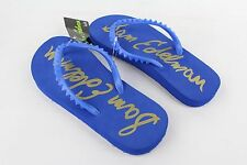 New Sam Edelman Kids Spiked Blue Flip Flops Youth Boys / Girls