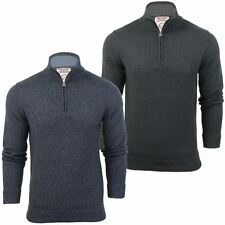 Mens Half Zip Funnel Neck Jumper by Tokyo Laundry Long Sleeved